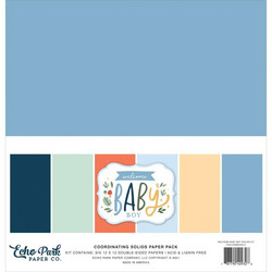 Echo ParkWelcome Baby Boy, Solids -paperipakkaus, 12
