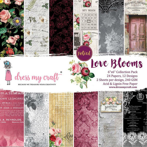 Dress My Craft paperipakkaus Love Blooms