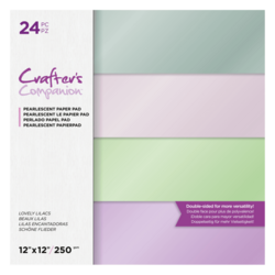 Crafter's Companion Lovely Lilacs Pearlescent -paperipakkaus, 12