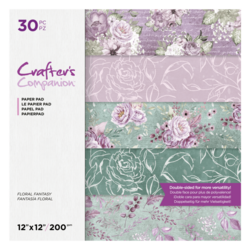 Crafter's Companion Floral Fantasy -paperipakkaus, 12