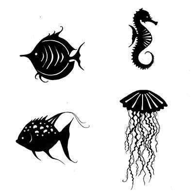 Lavinia Stamps leimasinsetti Sea Creatures