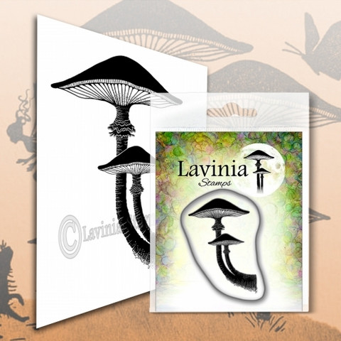 Lavinia Stamps leimasin Forest Mushroom