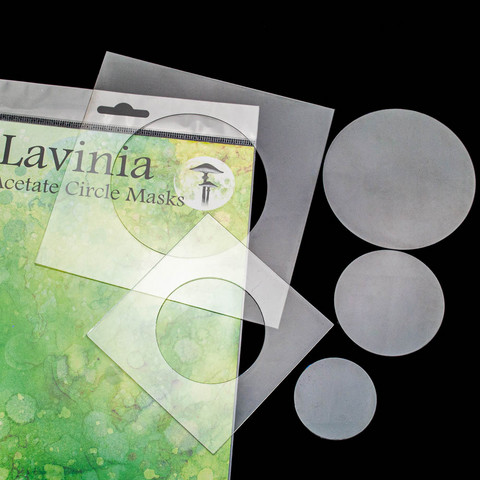 Lavinia Stamps sapluuna Acetate Circle Masks -maskit