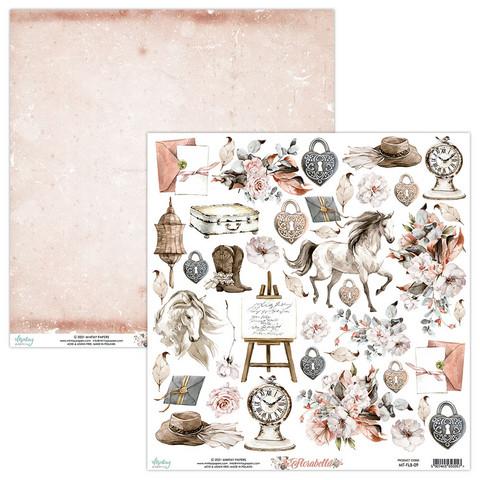 Mintay skräppipaperi Florabella 09