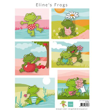 Marianne Design korttikuvat Eline's Frogs