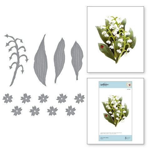 Spellbinders stanssisetti Lily of the Valley