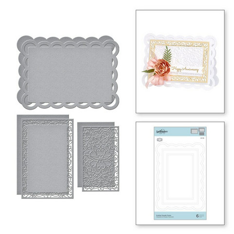 Spellbinders stanssisetti Scallop Facade Frame