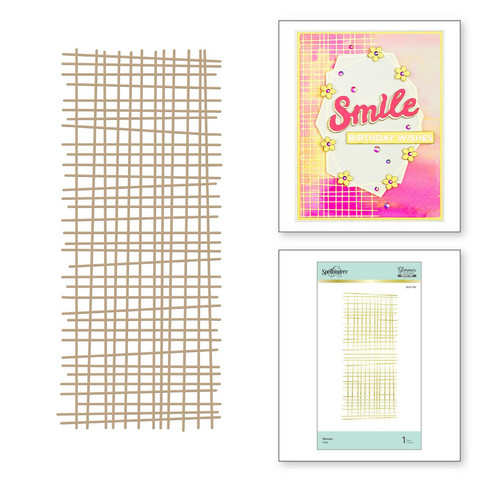 Spellbinders Glimmer Hot Foil -kuviolevy Woven