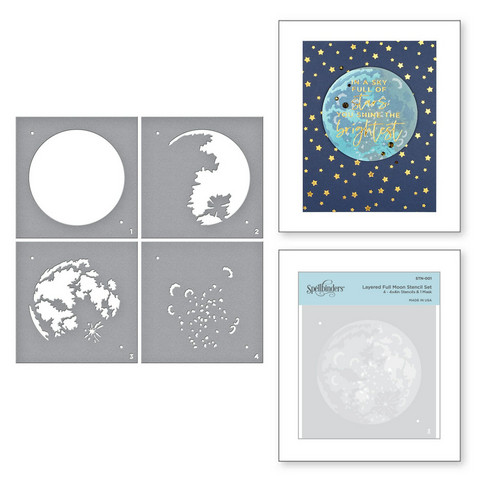Spellbinders Layered Full Moon -sapluunasetti