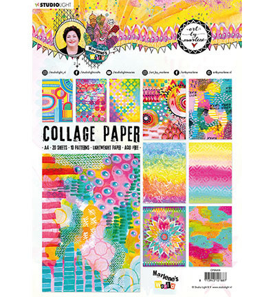 Studio Light paperipakkaus Collage Paper, Marlene's World