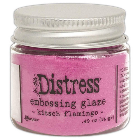 Tim Holtz Distress Embossing Glaze -jauhe, sävy Kitsch Flamingo