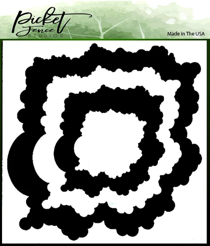 Picket Fence sapluuna- ja maskisetti 52 Layers of Clouds