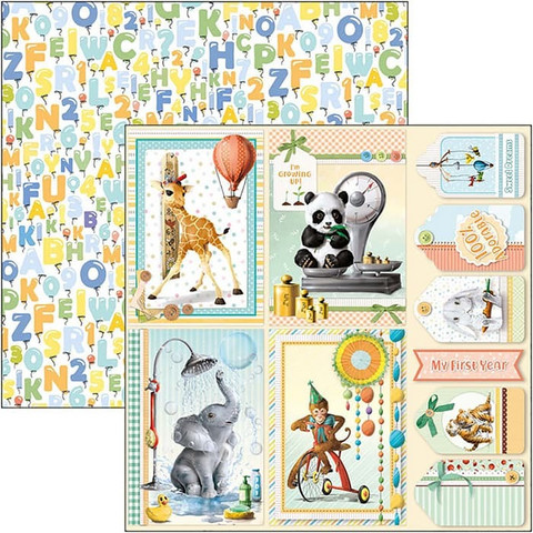Ciao Bella My First Year -skräppipaperi Cards
