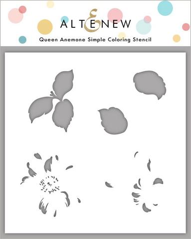 Altenew Queen Anemone Simple Coloring -sapluuna