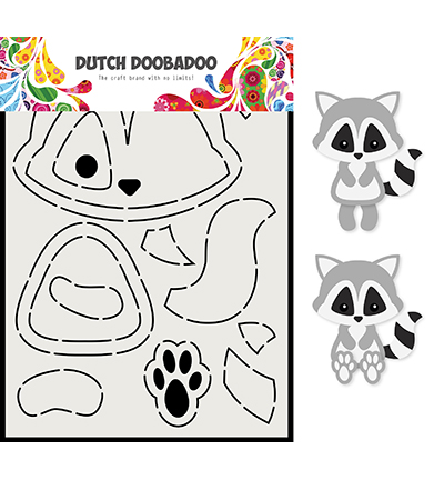 Dutch Doobadoo Raccoon -sapluuna