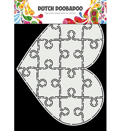 Dutch Doobadoo Puzzle Heart -sapluuna