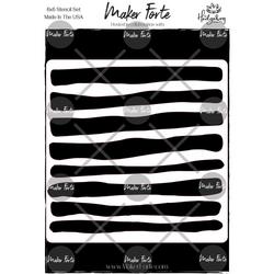 Maker Forte sapluuna Whimsical Stripes