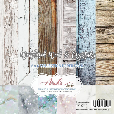 Memory Place paperipakkaus Weathered Wood & Crystals