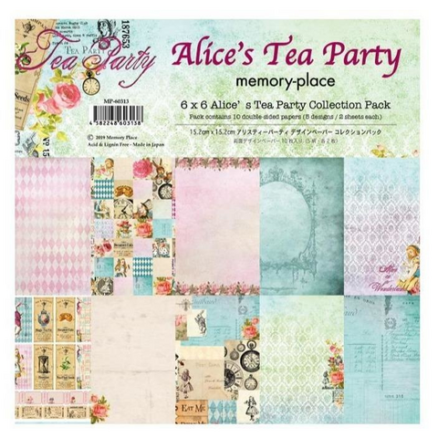 Memory Place paperipakkaus Alice's Tea Party