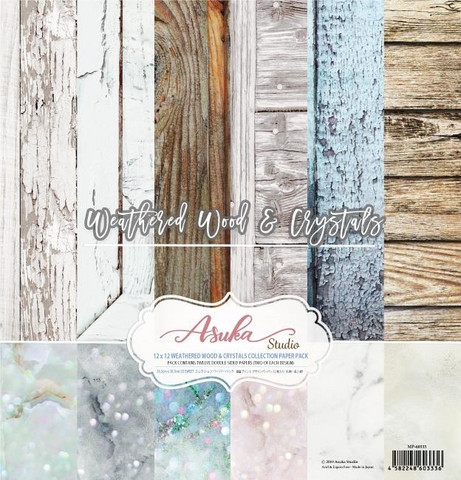 Memory Place paperipakkaus Weathered Wood & Crystals, 12