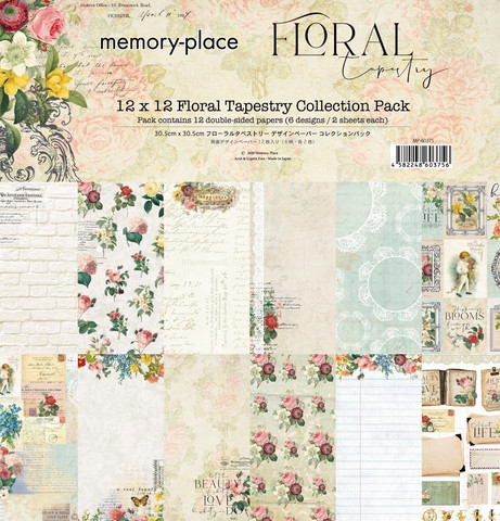 Memory Place paperipakkaus Floral Tapestry, 12