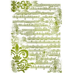 Stamperia sapluuna Musical Notes, A4
