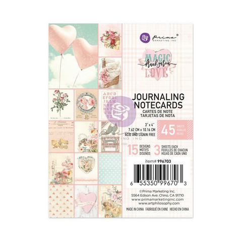 Prima Magic Love Journaling Notecards, 3