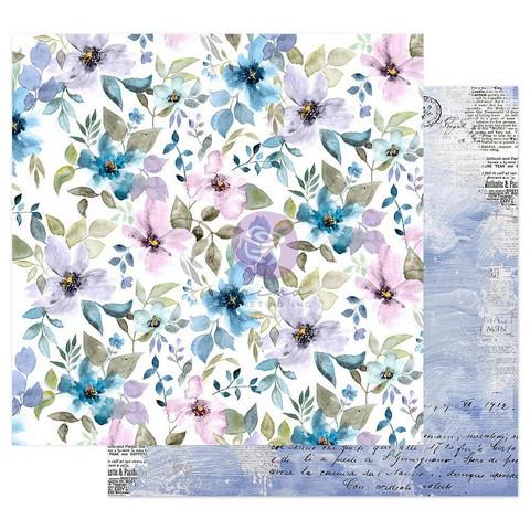 Prima Watercolor Floral -skräppipaperi In The Water Garden
