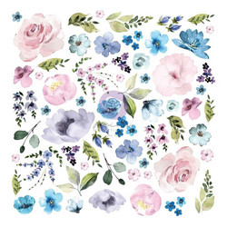 Prima Watercolor Floral #2 Ephemera die-cuts, leikekuvat
