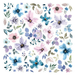 Prima Watercolor Floral #1 Ephemera die-cuts, leikekuvat