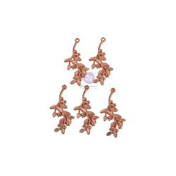 Prima Watercolor Floral Metal Charms -metallikoristeet