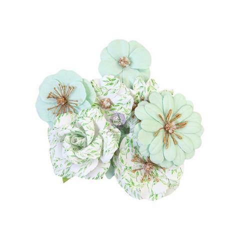 Prima Watercolor Floral paperikukat Minty Water