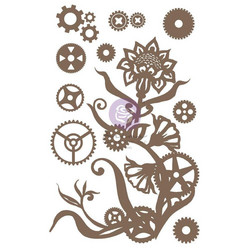 Prima Decorative Chipboard kuvioleike, Steampunk Flowers