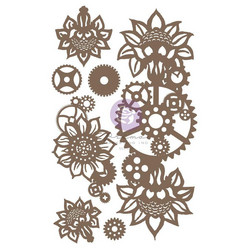 Prima Decorative Chipboard kuvioleike, Machine Floral Decors