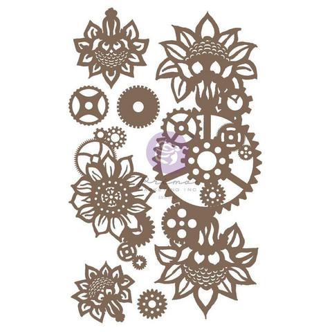 Prima Decorative Chipboard kuvioleike, Machine Floral Decors