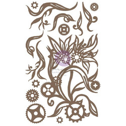 Prima Decorative Chipboard kuvioleike, Steampunk Blooms