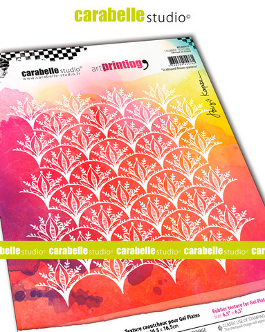 Carabelle Studio tekstuurilevy Scalloped Flower Pattern