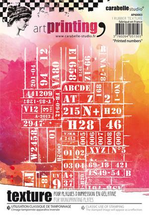 Carabelle Studio tekstuurilevy Printed numbers