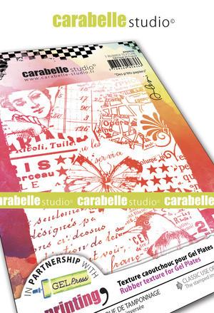 Carabelle Studio tekstuurilevy Des p'tits Papiers