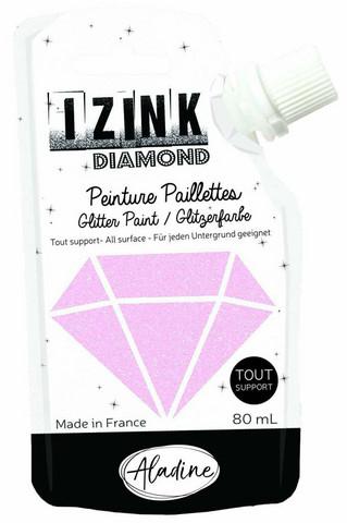 Aladine Izink Diamond -glittermaali, sävy Rose Pastel