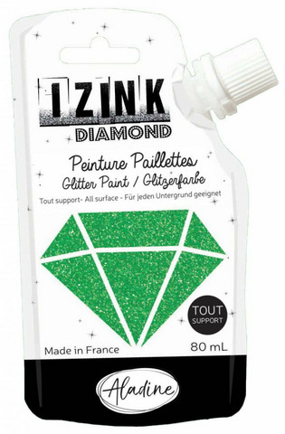 Aladine Izink Diamond -glittermaali, sävy Vert Fonce