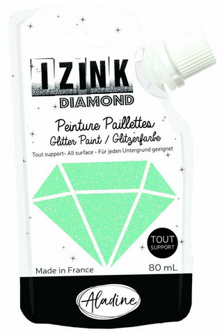 Aladine Izink Diamond -glittermaali, sävy Vert Pastel