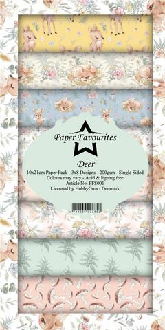 Paper Favourites Deer -paperipakkaus, Slim Line