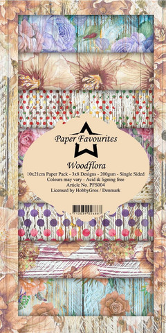 Paper Favourites Woodflora -paperipakkaus, Slim Line
