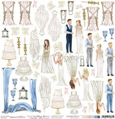 Craft O'clock skräppipaperi wedding Dream, Extras To Cut