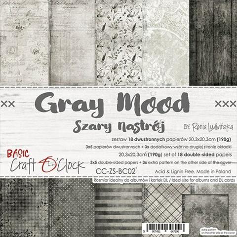 Craft O'clock paperipakkaus Gray Mood, 8