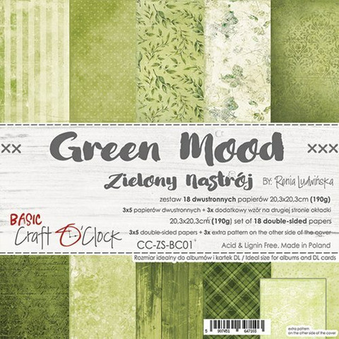 Craft O'clock paperipakkaus Green Mood, 8