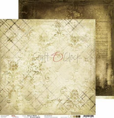 Craft O'clock skräppipaperi Brown Mood 01