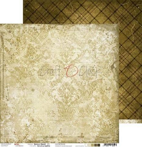 Craft O'clock skräppipaperi Brown Mood 03