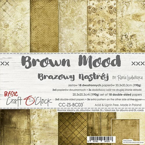 Craft O'clock paperipakkaus Brown Mood, 8